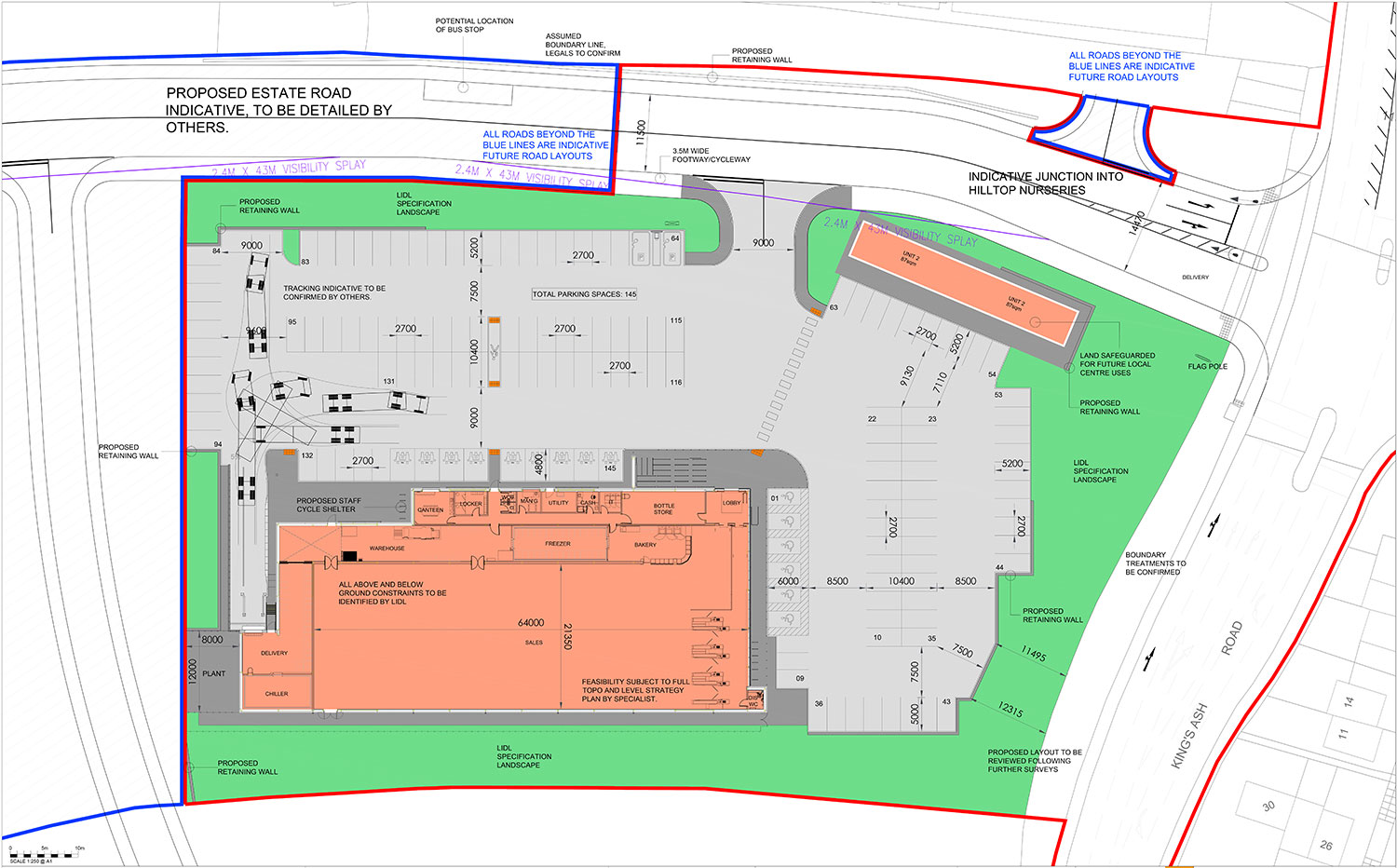 Lidl Kings Ash Road, Paignton – Proposed Site Layout